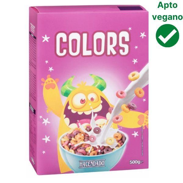 Cereales aros de colores Mercadona veganos