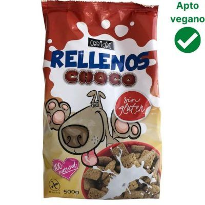 Cereales rellenos de chocolate Cerides veganos