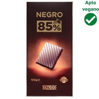 Tableta chocolate negro 85% Hacendado (Mercadona)