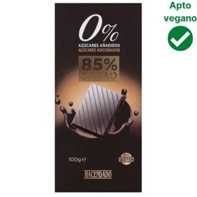 Tableta chocolate negro 85% sin azúcar Hacendado