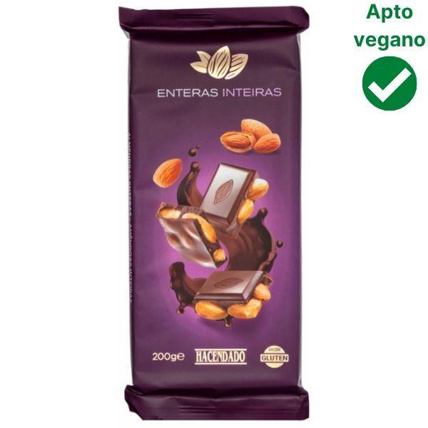 Chocolate con almendras Mercadona vegano