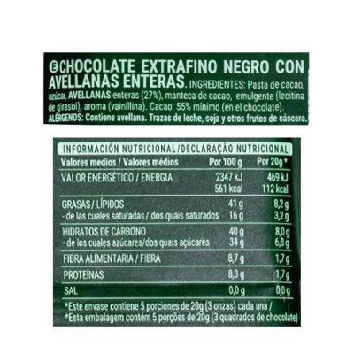 Tableta chocolate con avellanas Hacendado (Mercadona)