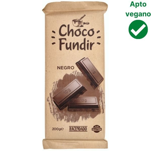 Chocolate fundir vegano Mercadona