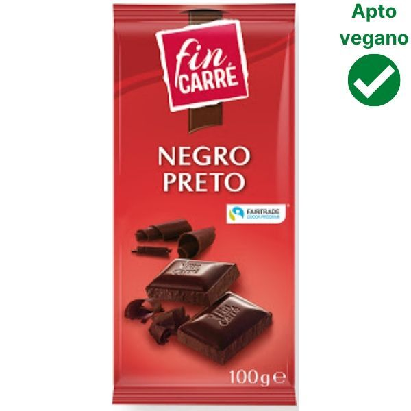Chocolate negro preto Fin Carre Lidl vegano