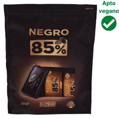 Chocolatinas 85% cacao Hacendado (Mercadona)