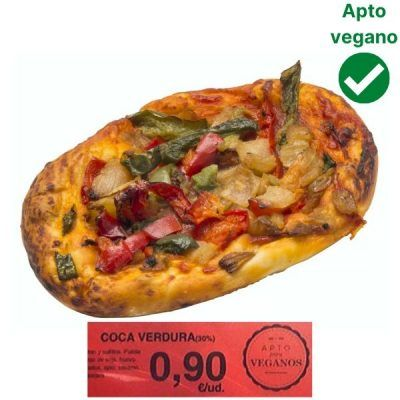 Coca verduras vegana Mercadona