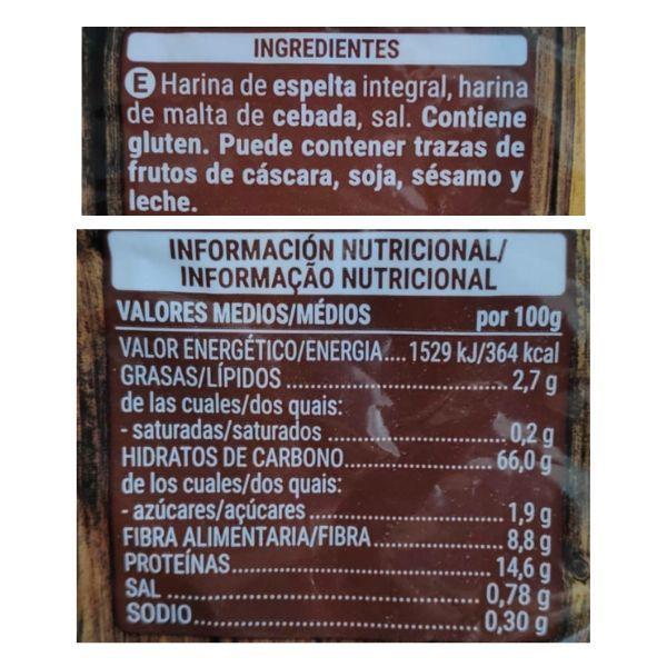 Copos de espelta Mercadona información nutricional y ingredientes
