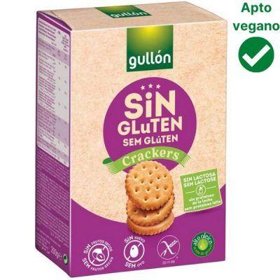 Crackers sin gluten Gullón veganos