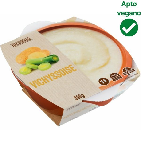 Crema vichyssoise vegana Mercadona