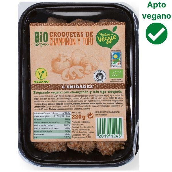 Croquetas veganas Lidl champiñones