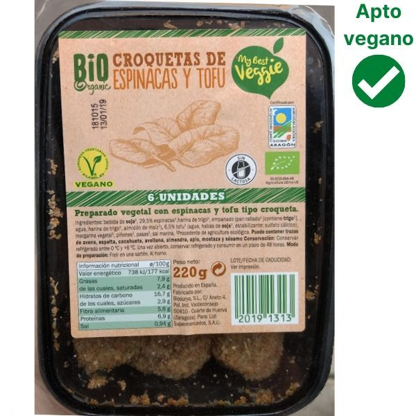 Croquetas veganas Lidl espinacas