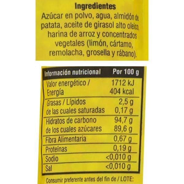 Estrellas de colores Mercadona ingredientes y valores nutricionales