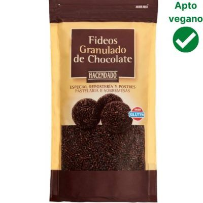 Fideos de chocolate Mercadona veganos