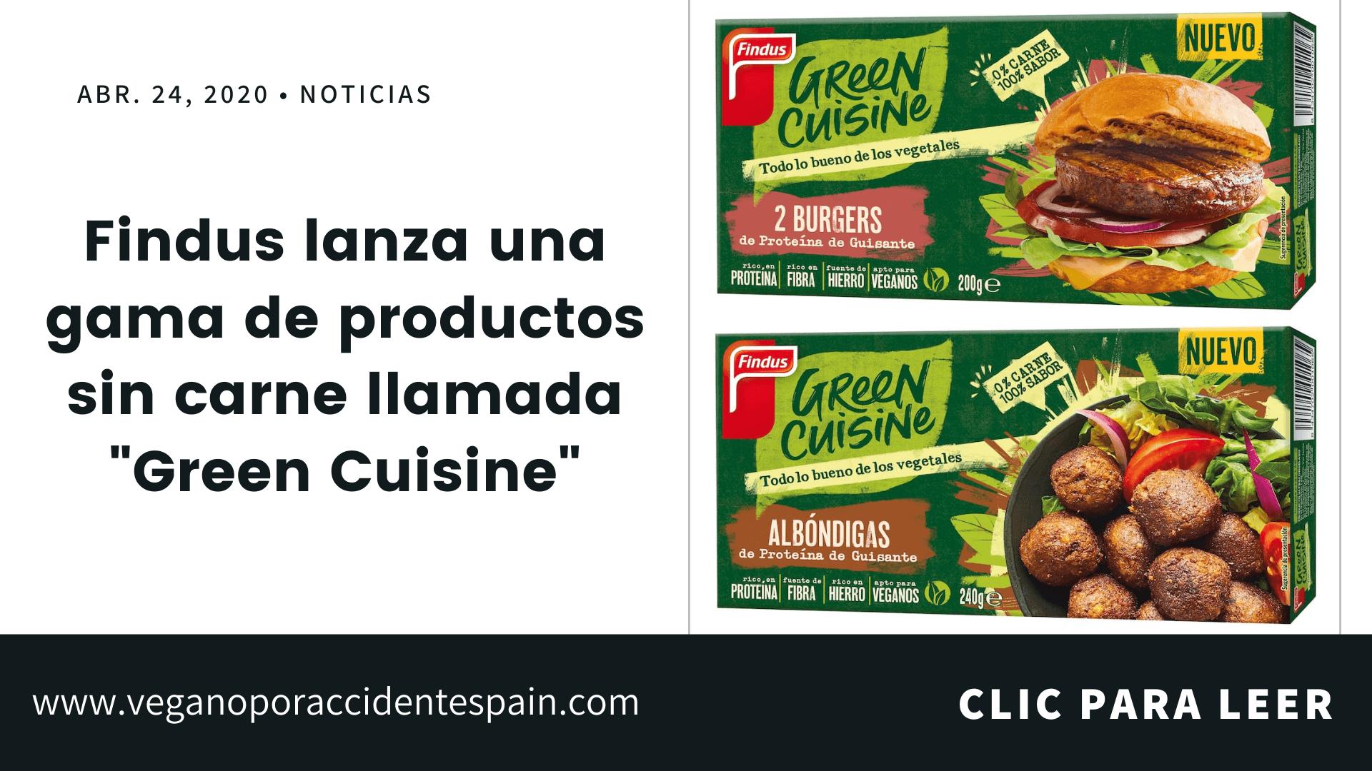 Green Cuisine Findus vegano