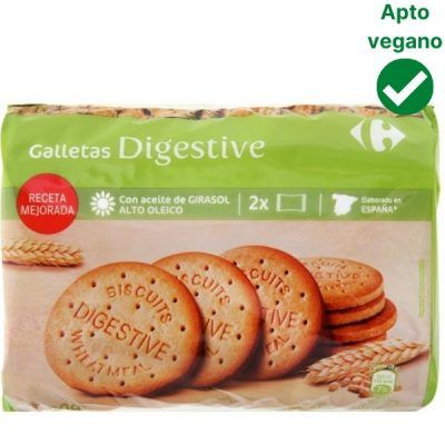 Galletas Digestive veganas Carrefour