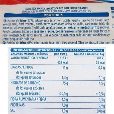 Galletas Maria sin azúcar Mercadona (Hacendado)