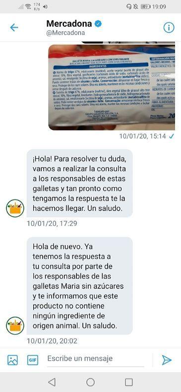 Galletas Maria veganas Mercadona