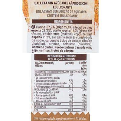 Galletas de espelta sin azúcar Mercadona (Hacendado)