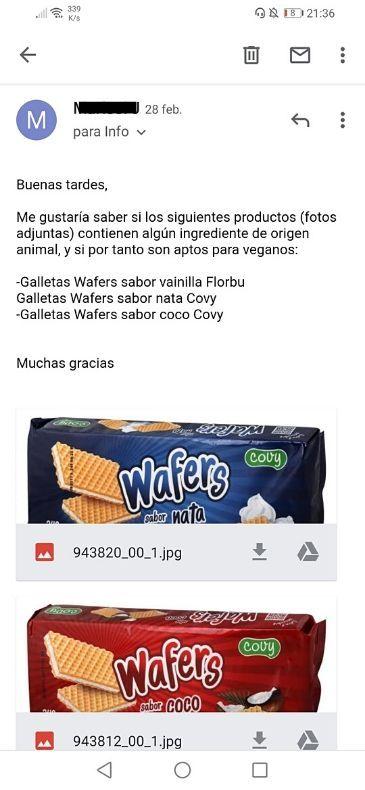 Galletas sin lactosa Carrefour veganas