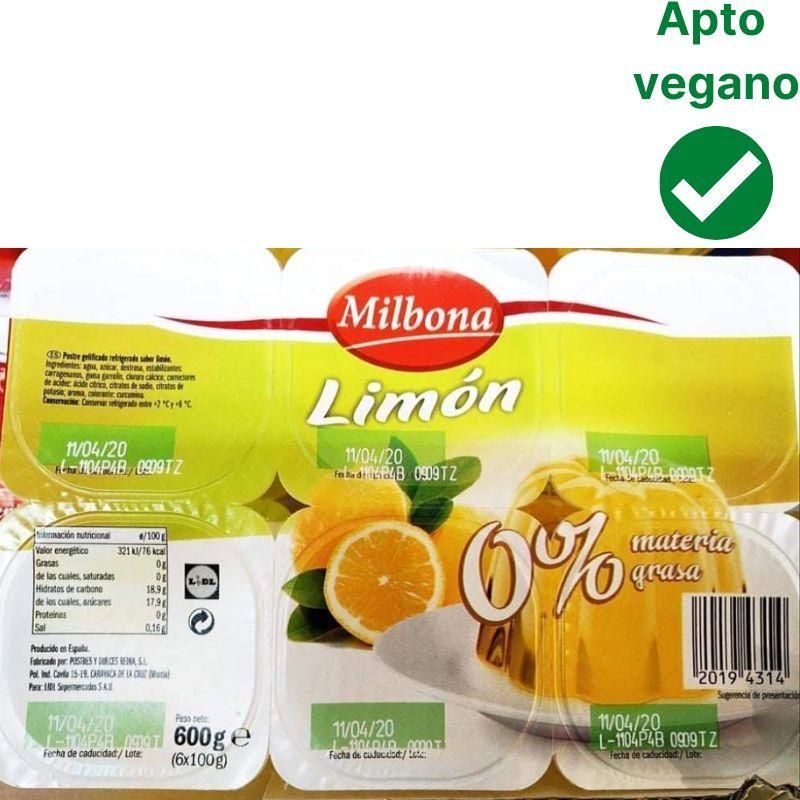 Gelatina Milbona vegana Lidl