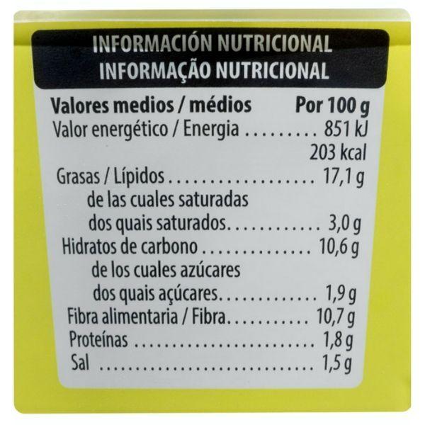Guacamole Mercadona informacion nutricional