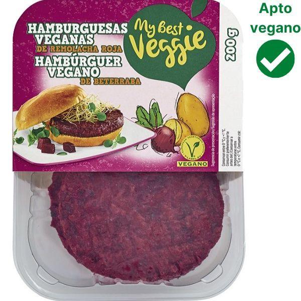 Hamburguesa remolacha My Best Veggie Lidl vegana