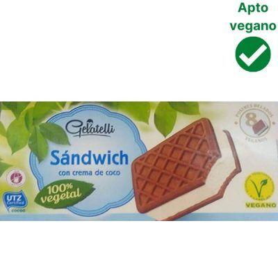 Helado sandwich vegano Lidl