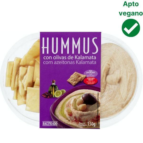 Hummus con olivas Kalamata Hacendado Mercadona