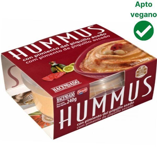Hummus de pimientos del piquillo Mercadona vegano