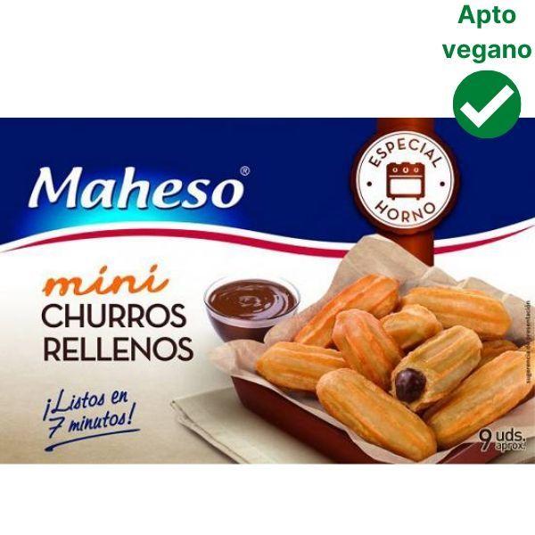 Mini churros rellenos de chocolate Maheso