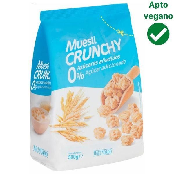 Muesli sin azúcar Mercadona vegano