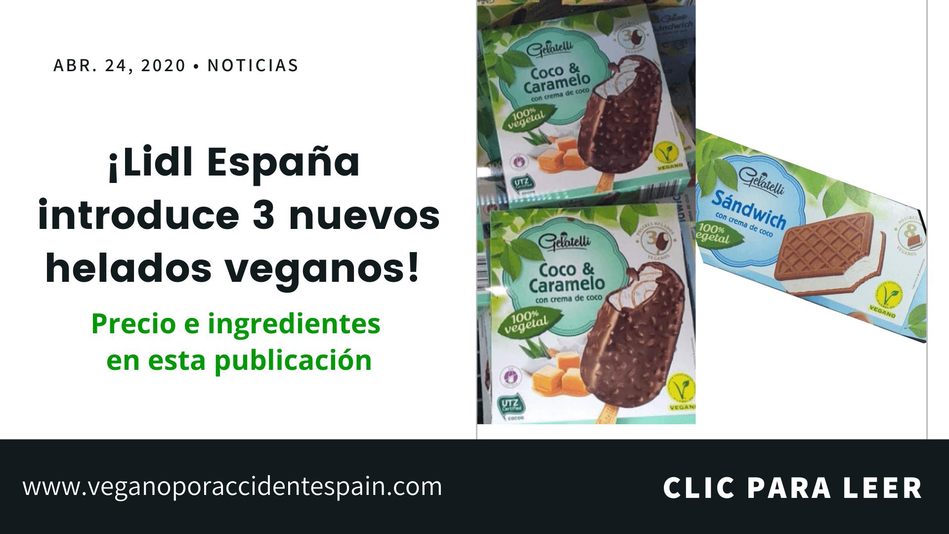 Nuevos helados veganos Lidl