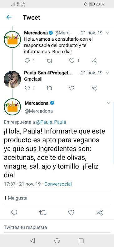 Paté vegano Mercadona