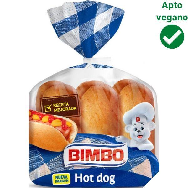 Pan Hot Dog vegano Bimbo