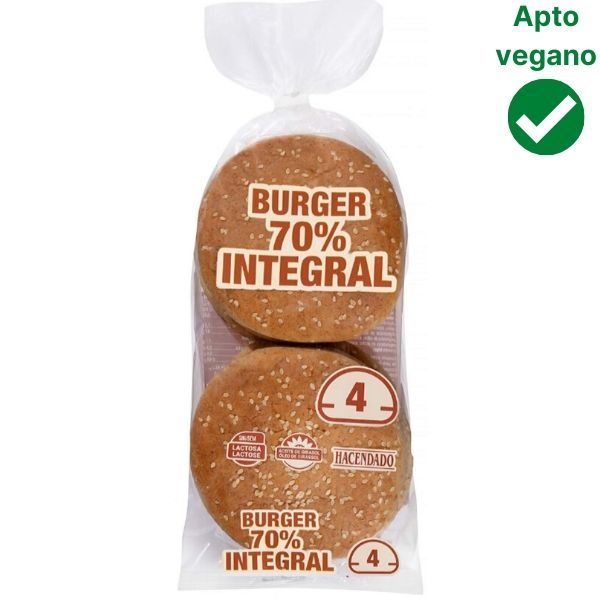 Pan hamburguesa integral Mercadona