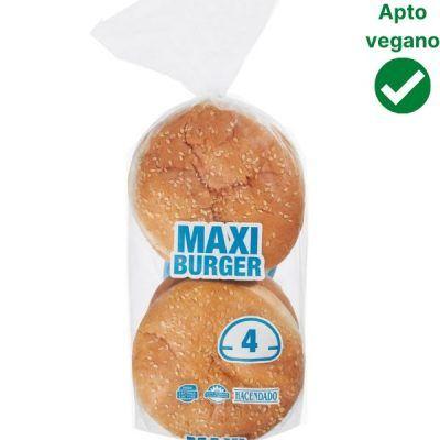 Pan hamburguesa Mercadona vegano