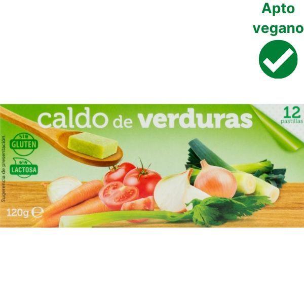 Pastillas caldo de verduras veganas Mercadona