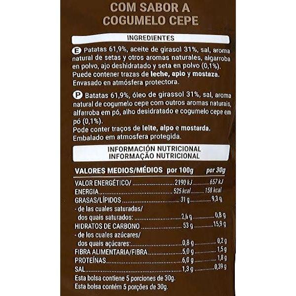 Patatas boletus Mercadona ingredientes y información nutricional