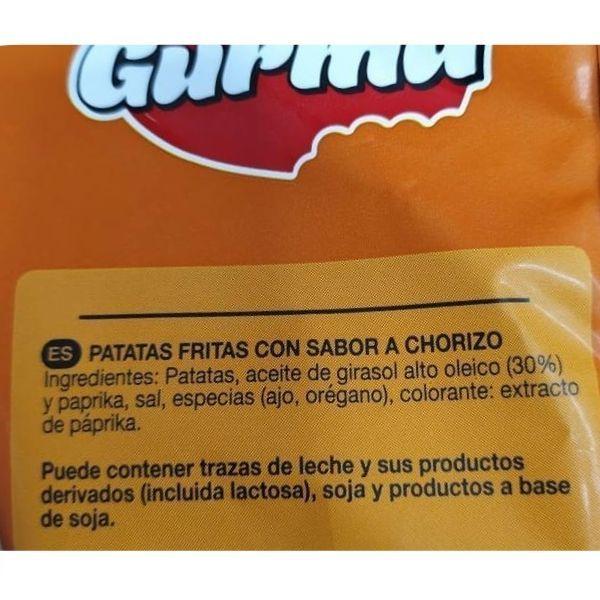 Patatas sabor chorizo Lidl ingredientes