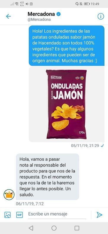 Patatas sabor jamón veganas