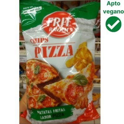Patatas sabor pizza veganas