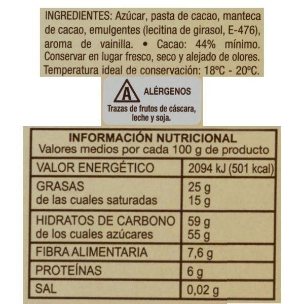 Pepitas de chocolate Mercadona ingredientes e información nutricional