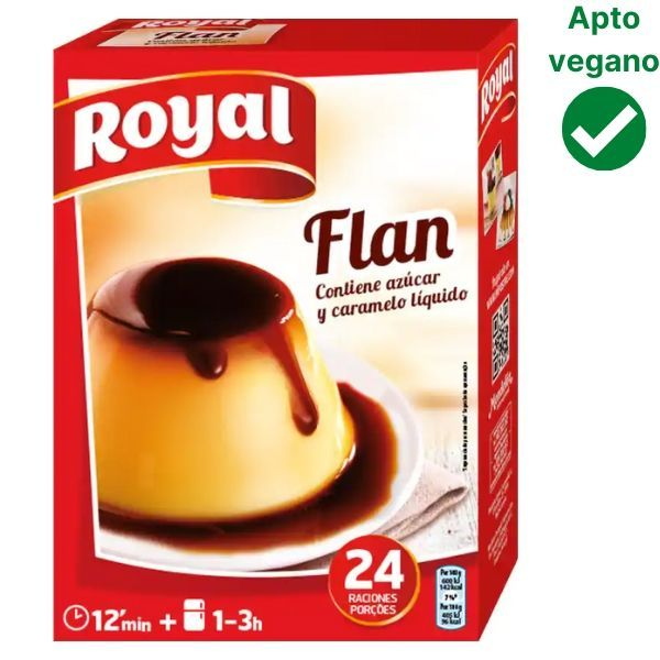 Preparado para hacer flan Royal vegano