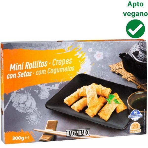 Rollitos con setas Mercadona veganos
