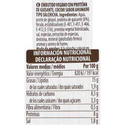 Salchichas veganas Mercadona (Hacendado)