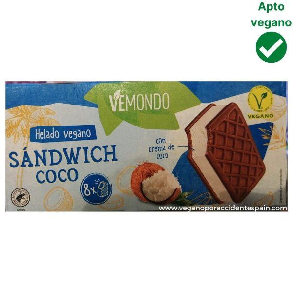 Sandwich helado sin lactosa Lidl