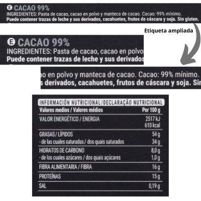 Tableta chocolate 99% Mercadona (Hacendado)