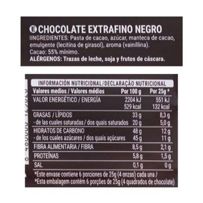 Tableta chocolate negro Hacendado (Mercadona)