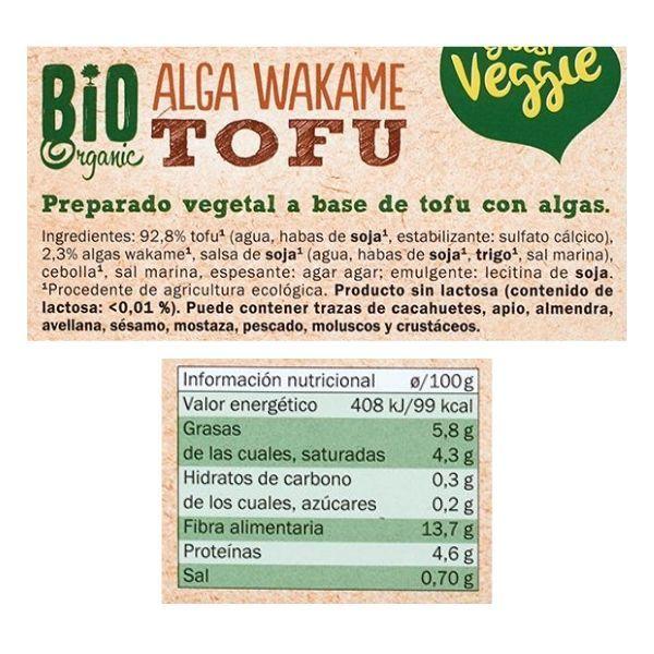 Tofu alga wakame Lidl ingredientes