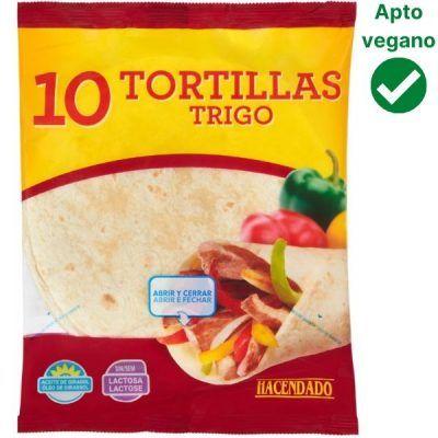 Tortillas de trigo veganas Mercadona